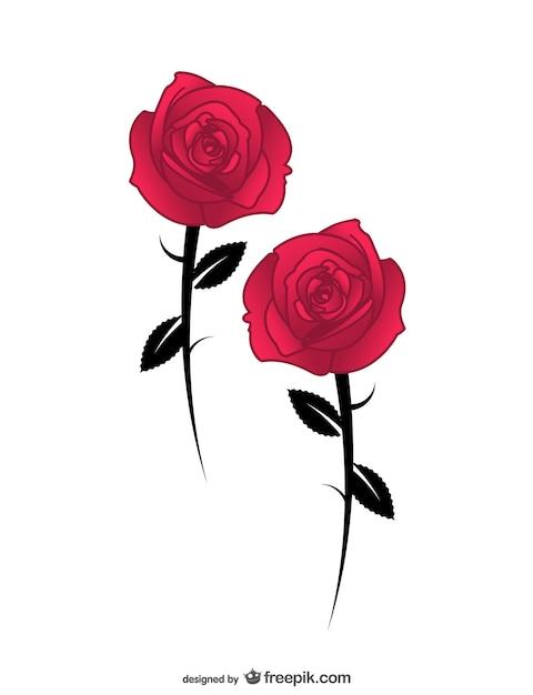 Vettore di rosa ai Vettore gratuito