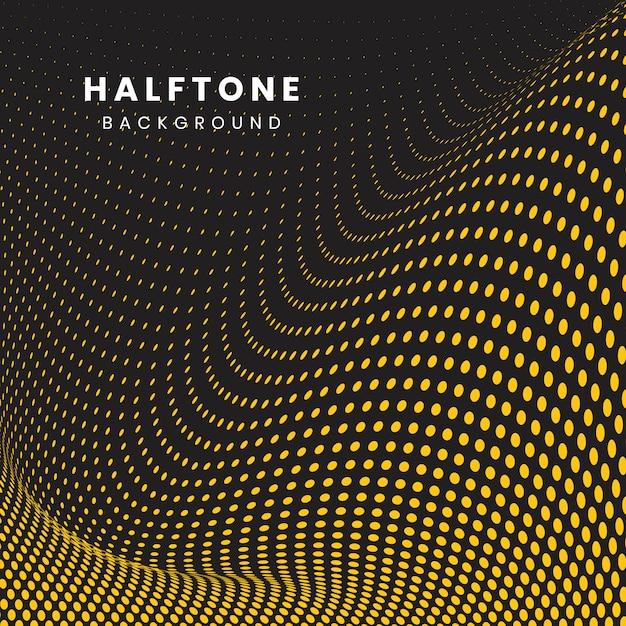 Vettore di semitono ondulato sfondo giallo e nero Vettore gratuito