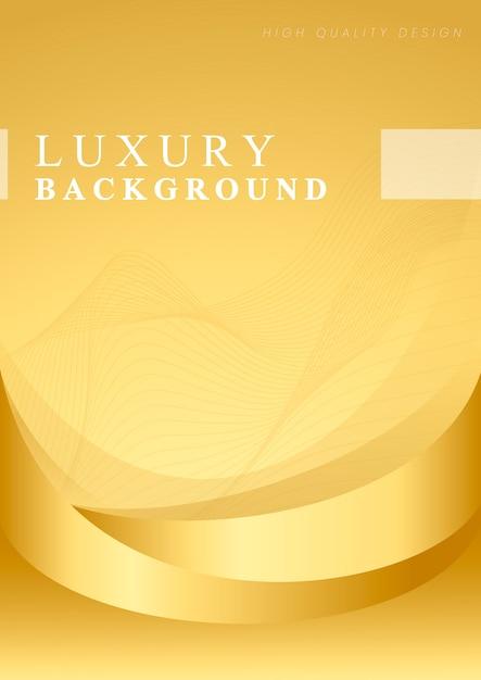 Vettore di sfondo astratto onda d'oro Vettore gratuito