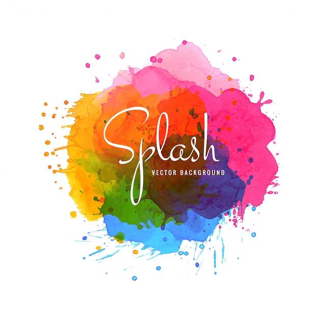 Vettore di sfondo colorato elegante spruzzata dell'acquerello Vettore gratuito