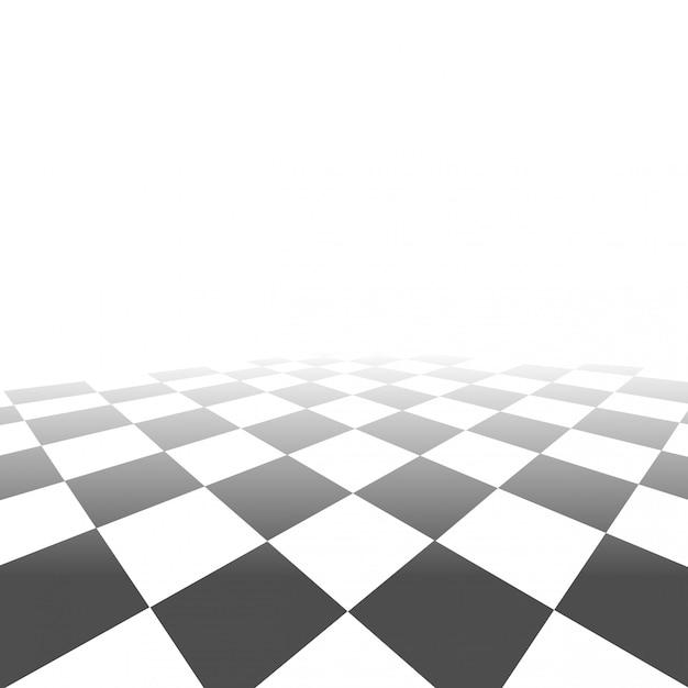 Vettore di sfondo prospettiva scacchiera Vettore Premium