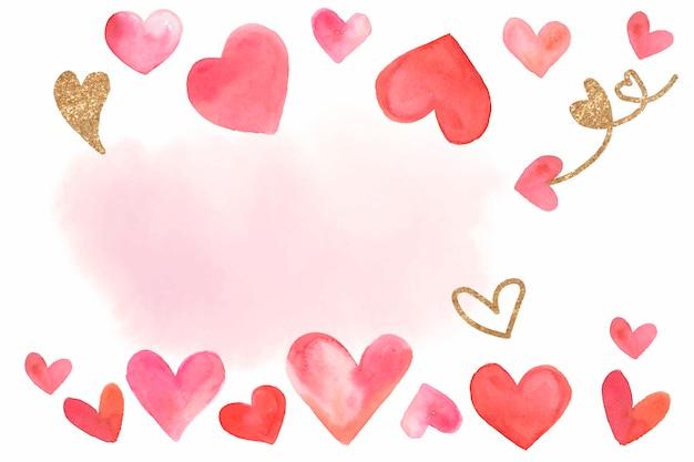 Vettore di stile dell'acquerello del fondo di san valentino Vettore gratuito