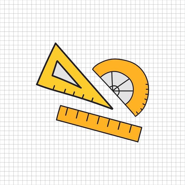Vettore di stile di doodle di cancelleria Vettore gratuito