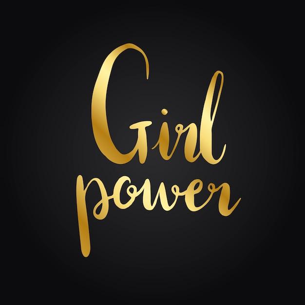 Vettore di stile di tipografia di potenza della ragazza Vettore gratuito
