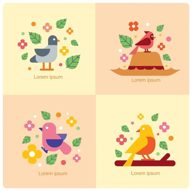 Vettore di uccelli Vettore Premium