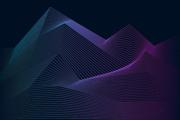 Vettore dinamico del modello di onda di visualizzazione di dati Vettore gratuito