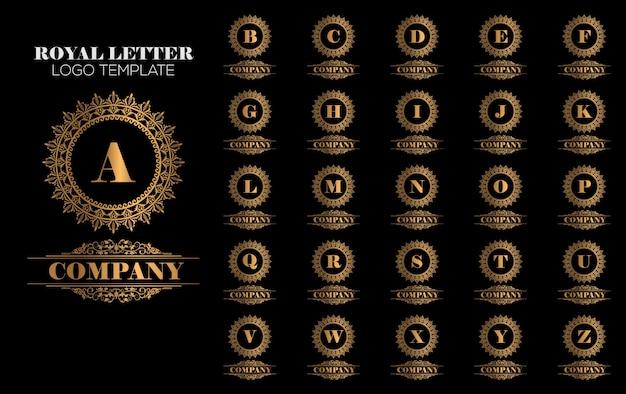 Vettore dorato reale del modello di marchio di lusso Vettore Premium