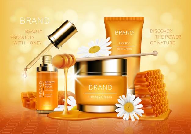 Vettore e fondo realistici cosmetici Vettore gratuito