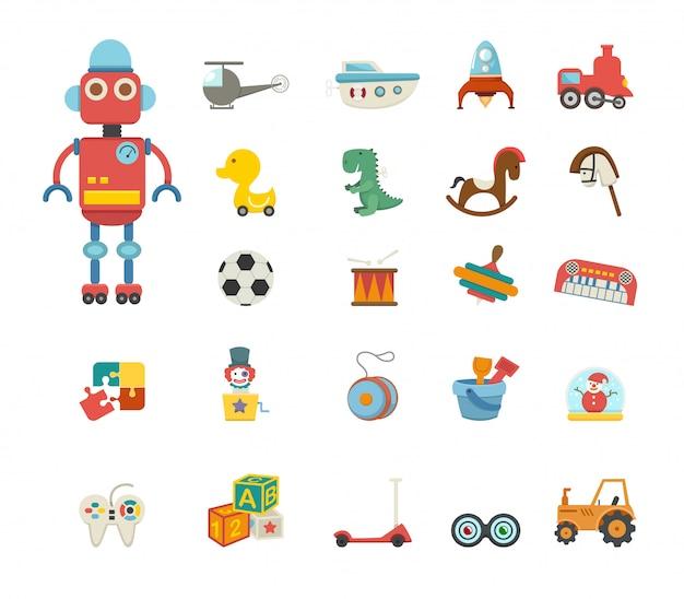 Vettore icona di giocattoli Vettore Premium