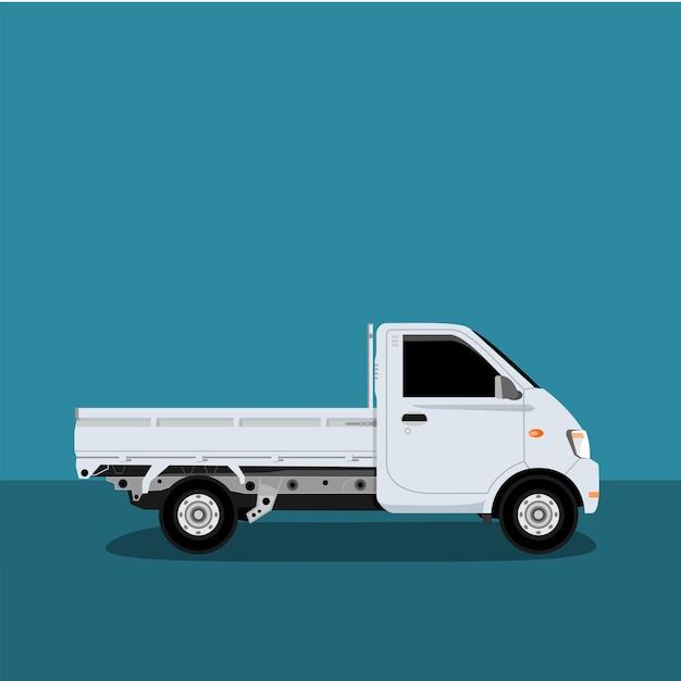 Vettore icone piccolo camion. Vettore Premium