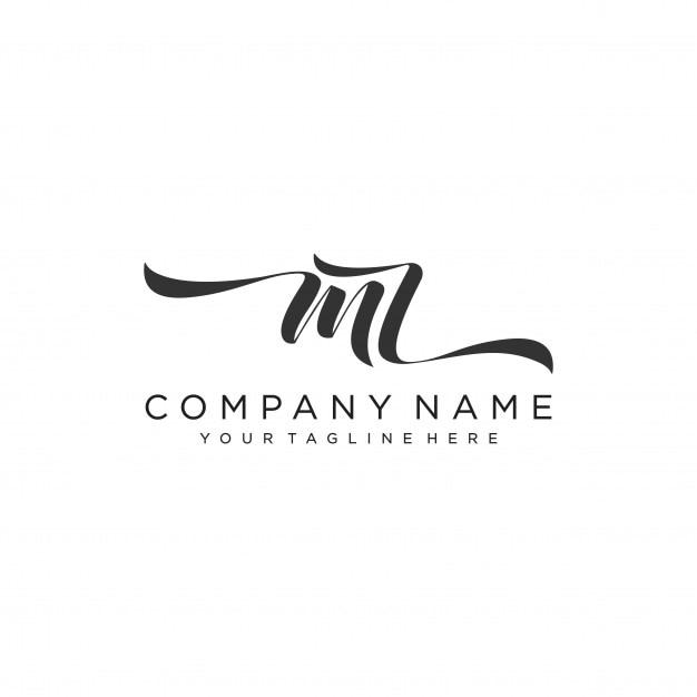 Vettore iniziale del modello di progettazione di logo di mz iniziale Vettore Premium
