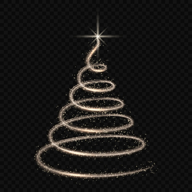 Vettore isolato albero stilizzato dell'albero di natale Vettore Premium