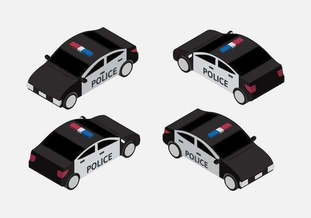 Vettore isometrico stabilito del volante classico della polizia Vettore Premium