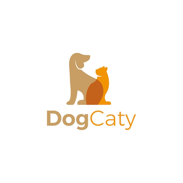 Vettore logo dell'animale domestico Vettore Premium