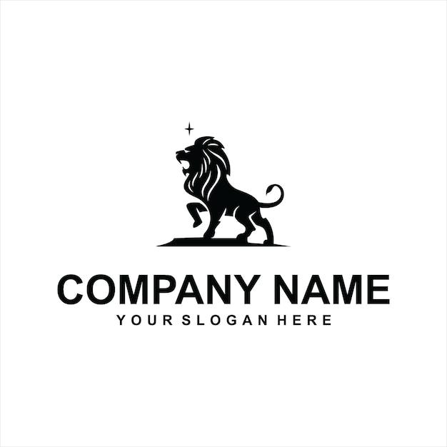 Vettore logo leone nero Vettore Premium