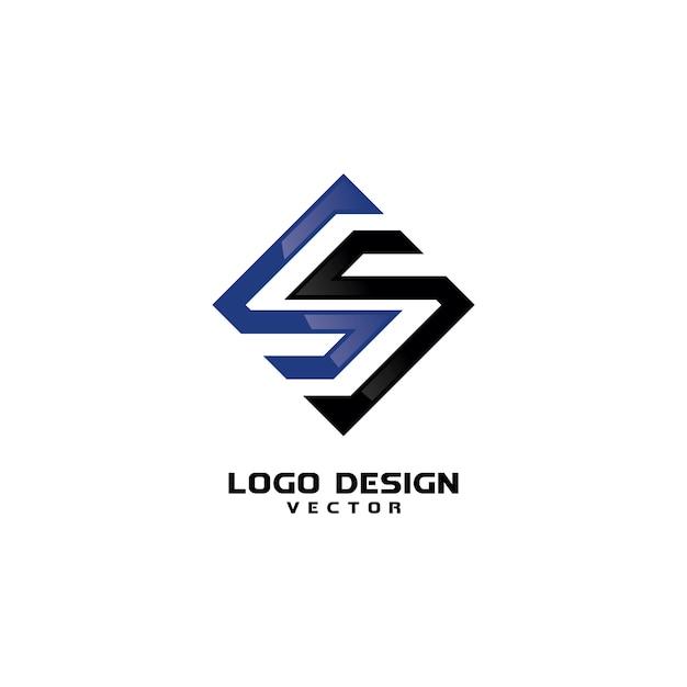 Vettore moderno del modello di logo di s moderno Vettore Premium