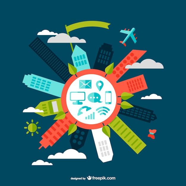 Vettore moderno design della comunicazione scaricare for Design della comunicazione universita
