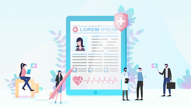 Vettore piano di assicurazione sanitaria e di servizi medici Vettore Premium