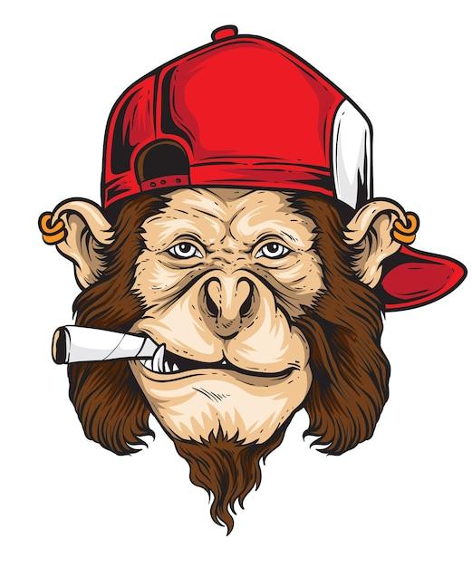 Vettore scimmia ribelle Vettore Premium