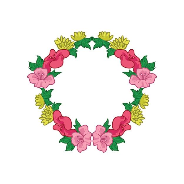 Vettore semplice della corona del fiore Vettore Premium