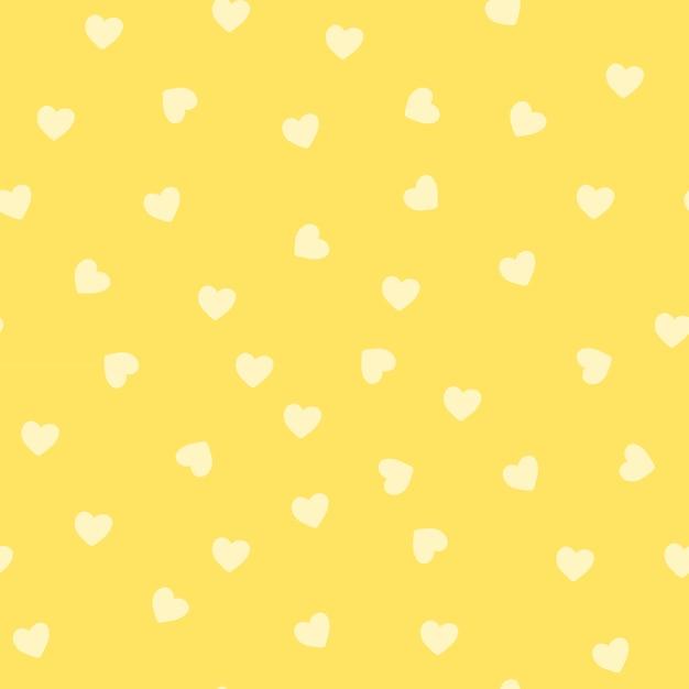 Vettore senza cuciture del modello del cuore giallo Vettore gratuito