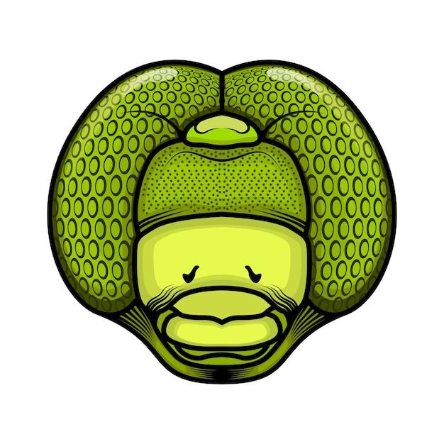 Vettore testa di libellula Vettore Premium