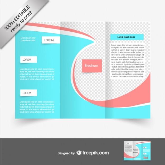 Vettore tri-fold brochure free download Vettore gratuito