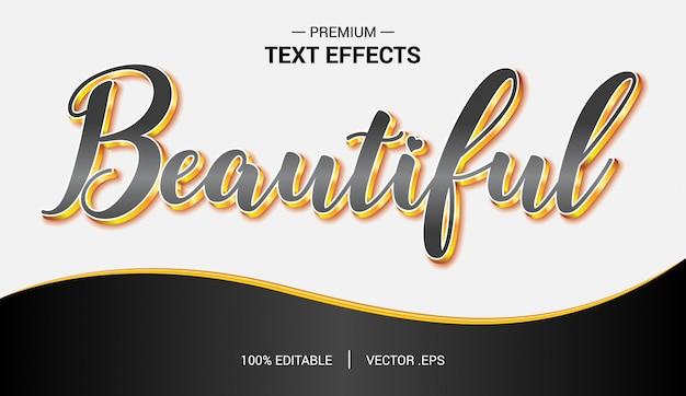 Vettori di bellissimi effetti di testo, set elegante effetto di testo astratto rosa viola elegante Vettore Premium