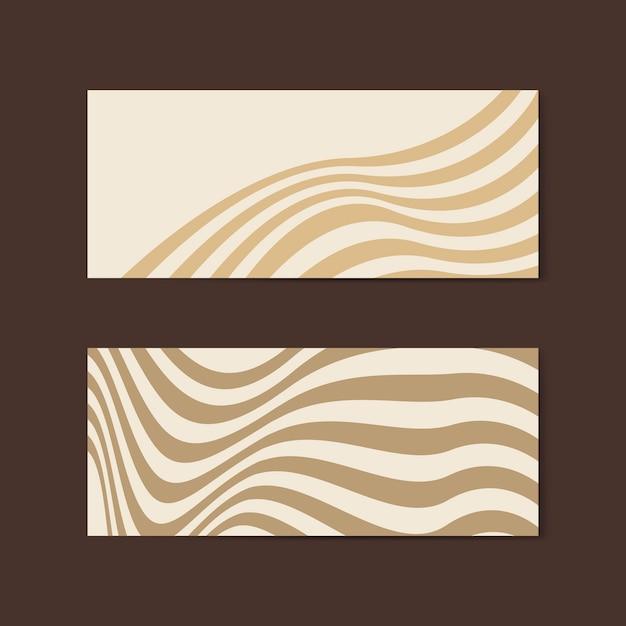 Vettori di disegno astratto bandiera beige Vettore gratuito