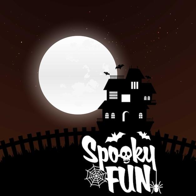 Vettori di sfondo di halloween Vettore gratuito