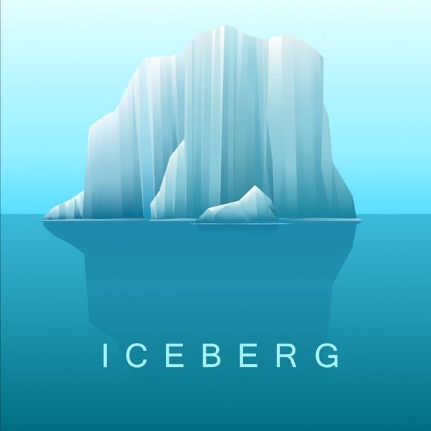 Vettoriale di iceberg e mare Vettore gratuito