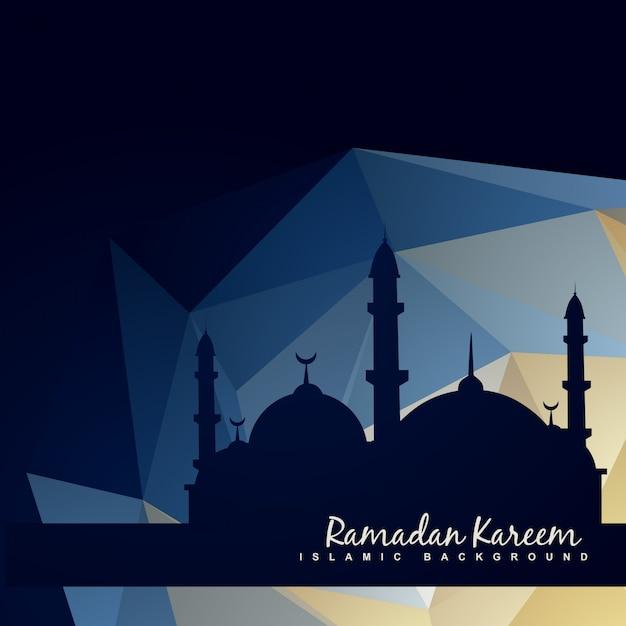 Vettoriale islamc moschea con sfondo astratto Vettore gratuito