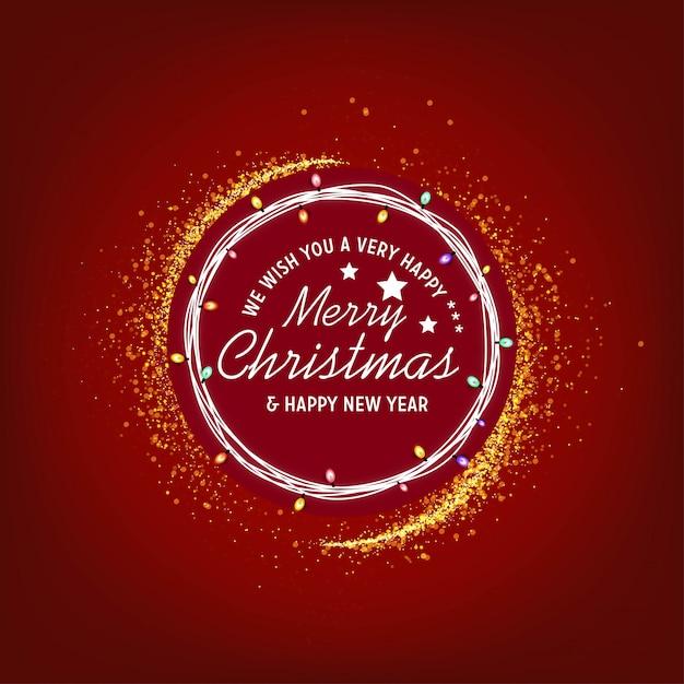 Vi auguriamo un felice anno di buon natale e felice anno nuovo Vettore Premium