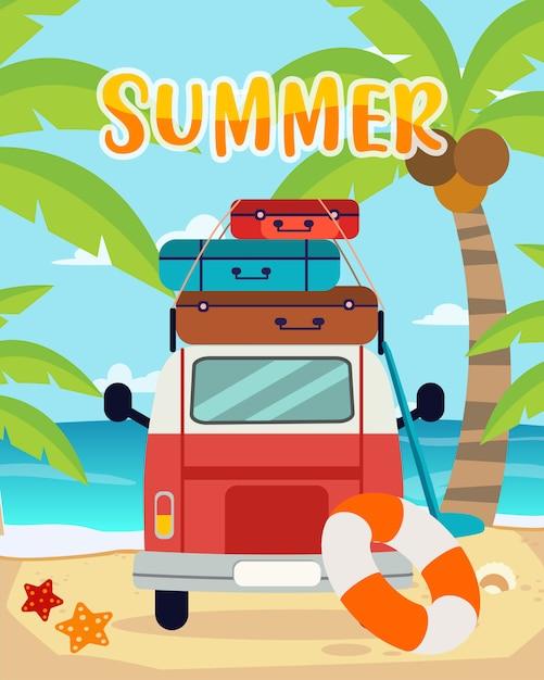 Viaggi estivi Vettore Premium