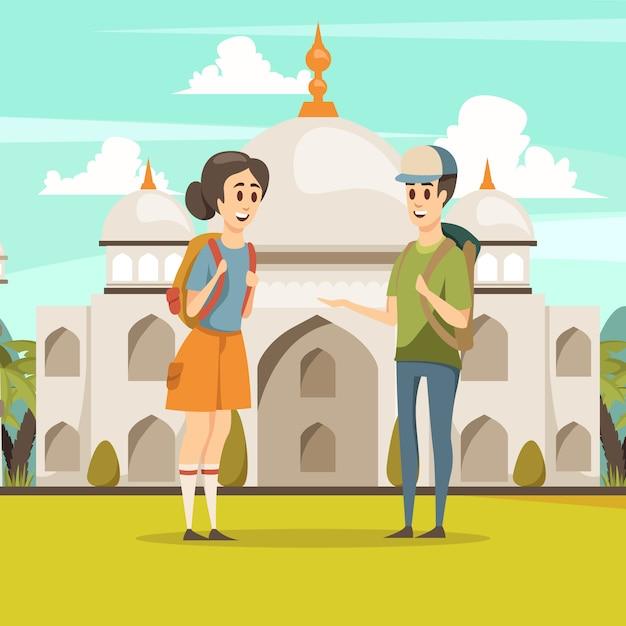 Viaggia in india Vettore gratuito