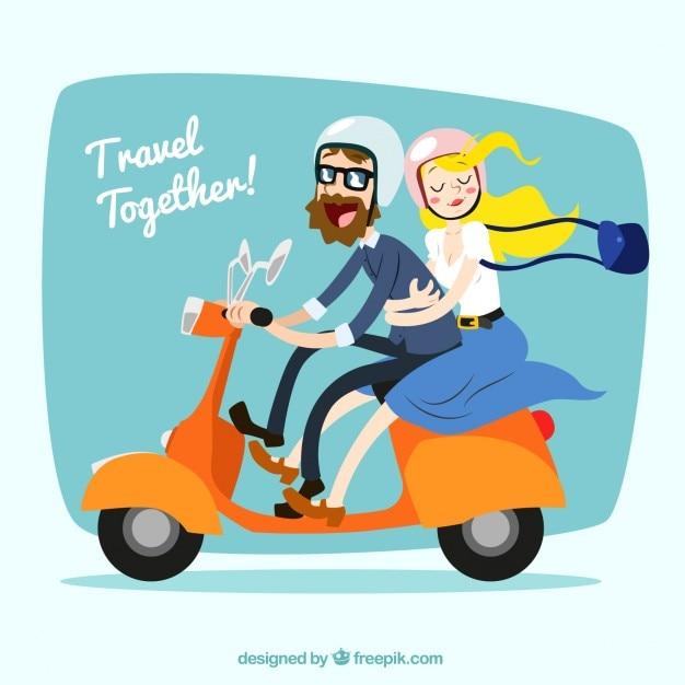Viaggia insieme! Vettore gratuito