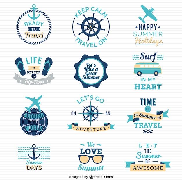 Viaggiare e vela loghi Vettore gratuito