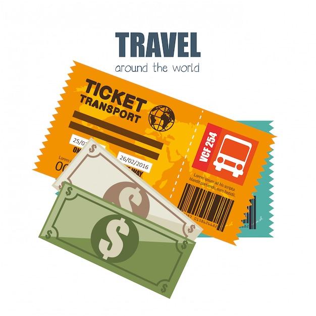 Viaggiare in tutto il mondo Vettore gratuito