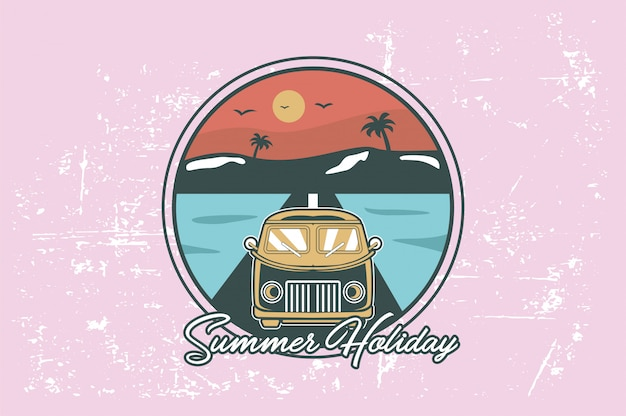 Viaggiare vacanze estive Vettore Premium