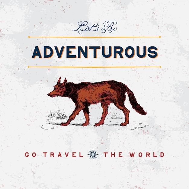 Viaggio avventuroso logo design vettoriale Vettore gratuito