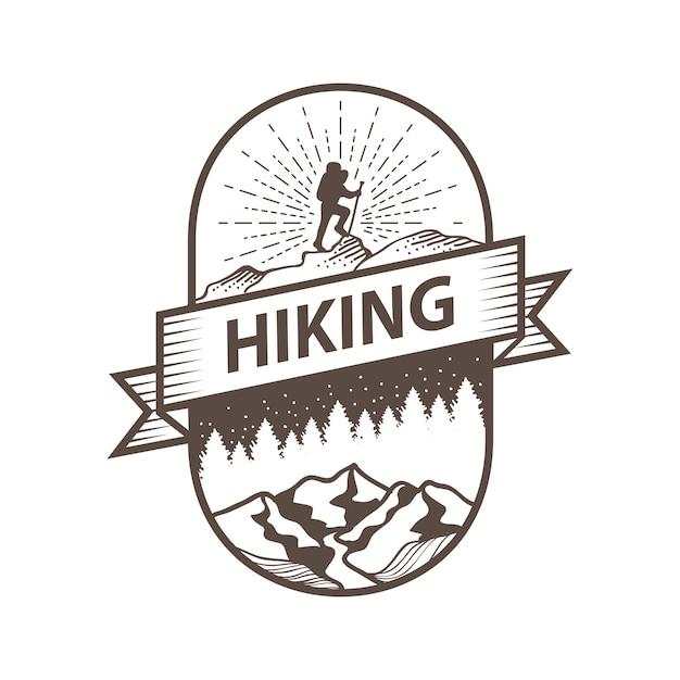 Viaggio e spedizione in montagna Vettore Premium