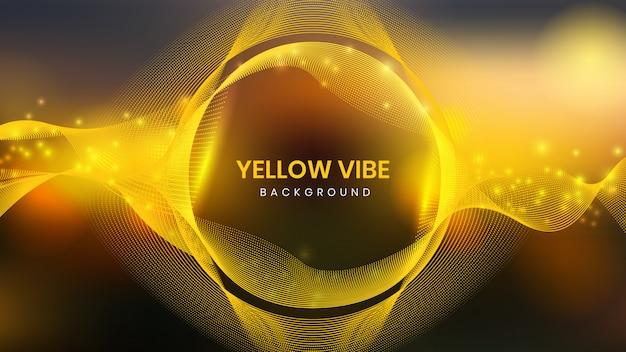 Vibe sfondo giallo Vettore Premium