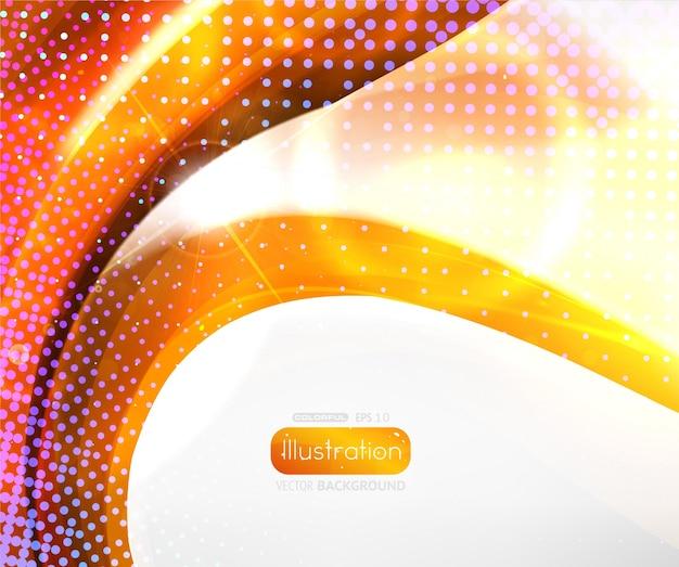 Vibrante bel poster luce trasparente Vettore Premium