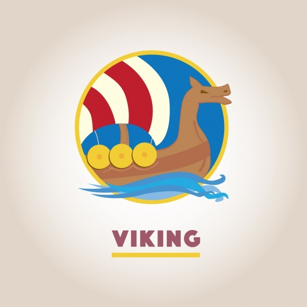 Vichingo logo modello di progettazione Vettore gratuito