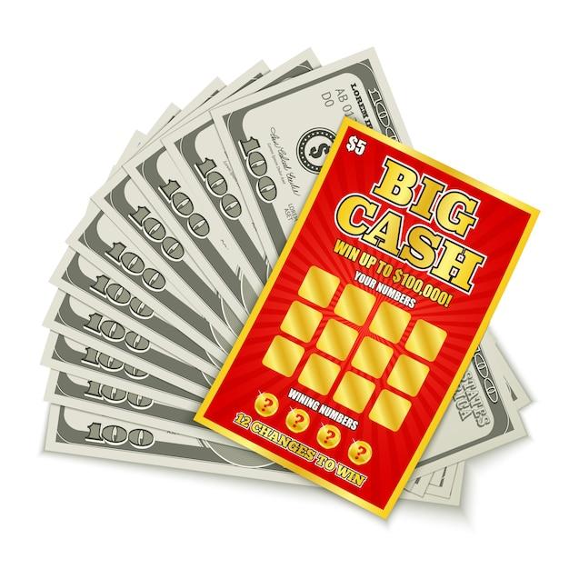 Vincita alla lotteria in contanti Vettore gratuito