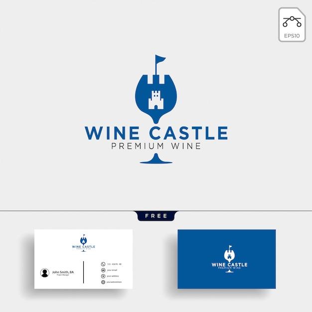 Vino regno, illustrazione vettoriale elegante logo modello di vino della regina Vettore Premium