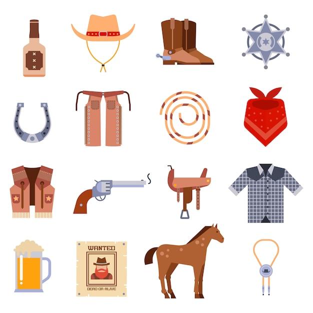 Vintage americano vecchio western design segno e grafica cowboy Vettore Premium
