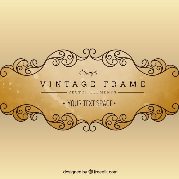 Vintage cornice ornamentale Vettore gratuito