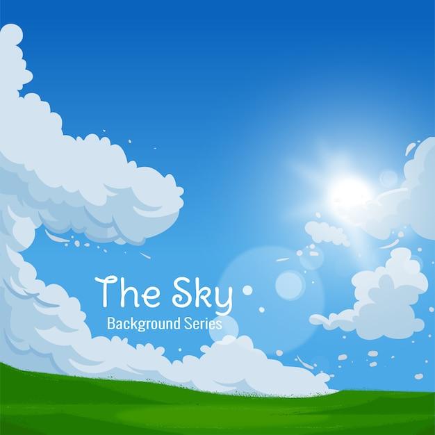 Violet sky Vettore Premium