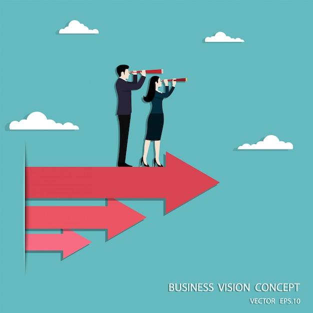 Visione aziendale e target Vettore Premium